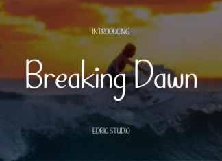 Breaking Dawn Display Font