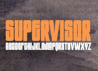 Supervisor Display Font