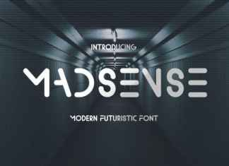 Madsense Display Font
