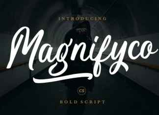 Magnifyco Brush Font