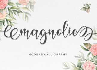 Magnolie Calligraphy Font