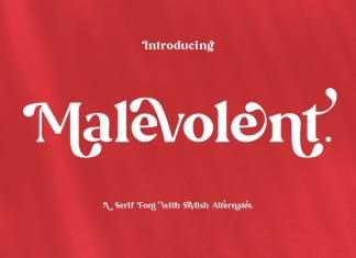 Malevolent Serif Font