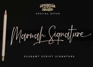 Marwah Signature Script Font