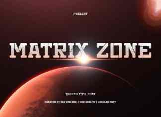 Matrix Zone Display Font
