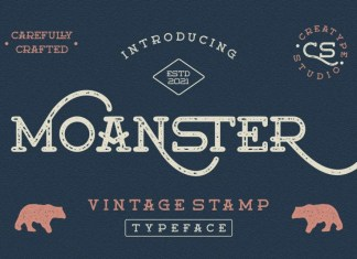 Moanster Display Font