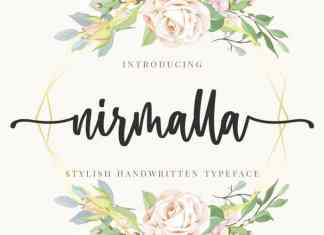 Nirmalla Calligraphy Font