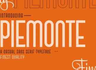 Piemonte Sans Serif Font