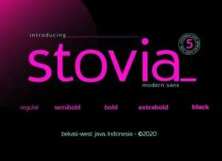 Stovia Sans Serif Font