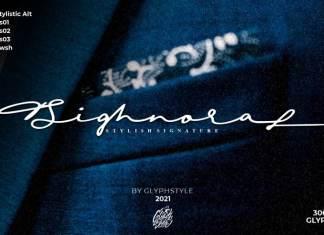 Sighnora Signature Script Font