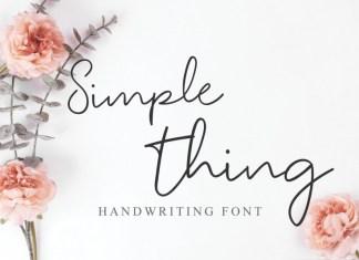 Simple Thing Handwritten Font