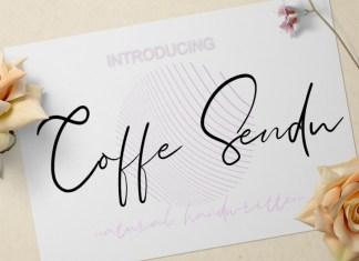Coffe Sendu Script Font