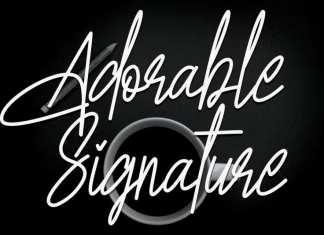 Adorable Signature Handwritten Font