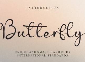 Butterfly Calligraphy Font