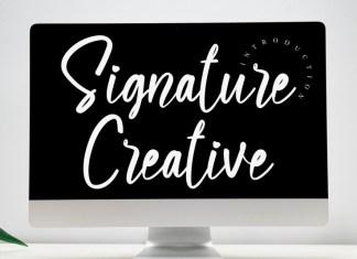 Signature Creative Script Font