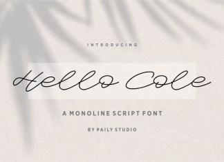 Hello Cole Script Font