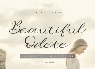 Beautiful Odete Calligraphy Font