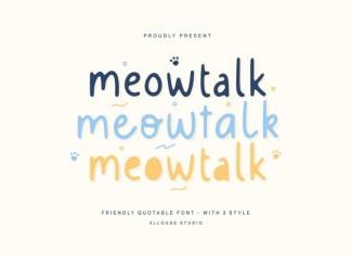 Meowtalk Display Font
