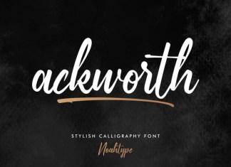 Ackworth Script Font