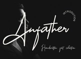 Anfather Handwritten Font