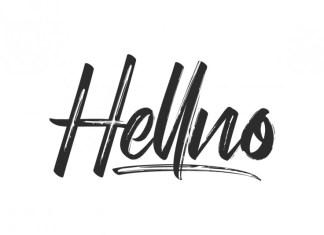 Hellno Brush Font