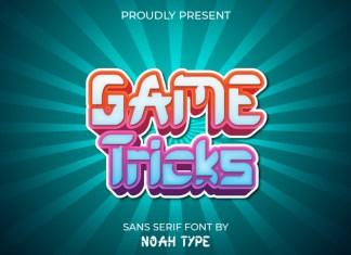 Game Tricks Display Font