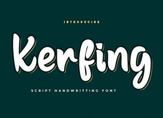 Kerfing Display Font