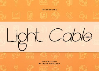 Light Cable Display Font