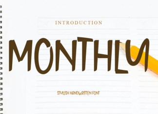 Monthly Display Font