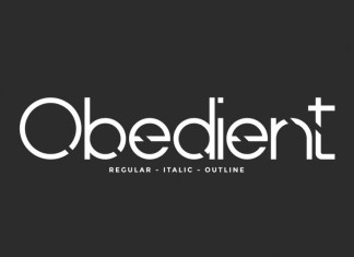 Obedient Display Font