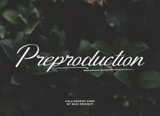 Preproduction Script Font
