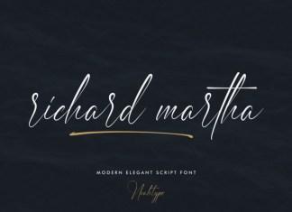 Richard Martha Script Font