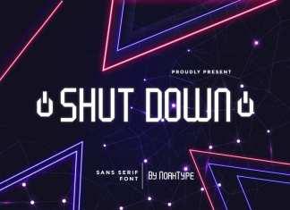 Shut Down Display Font