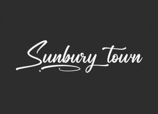 Sunbury Town Script Font