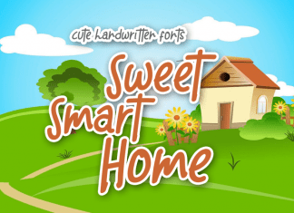 Sweet Smart Home Display Font