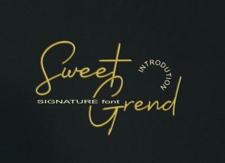 Sweet Grend Handwritten Font
