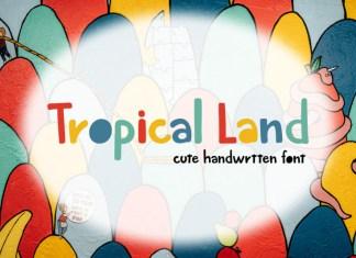 Tropical Land Display Font