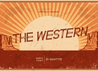 The Western Display Font