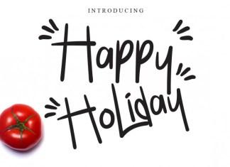 Happy Holiday Script Font