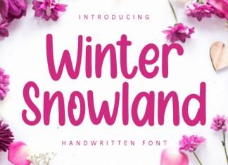 Winter Snowland Display Font