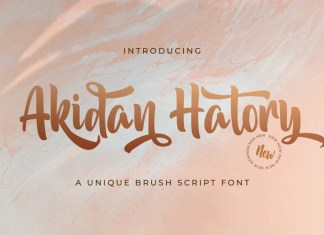 Akidan Hatory Script Font