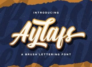Aylafs Bold Script Font