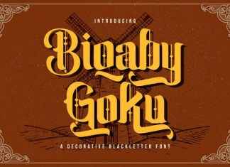 Biqabygoku Display Font