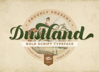Dustland Bold Script Font