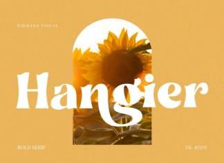 Hangier Serif Font