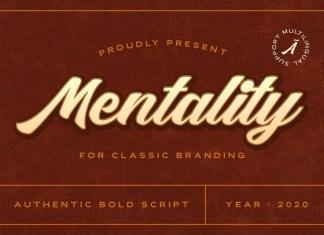 Mentality Bold Script Font