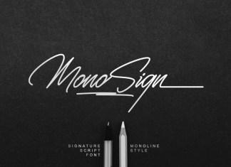 Monosign Handwritten Font