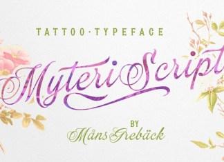 Myteri Script Font
