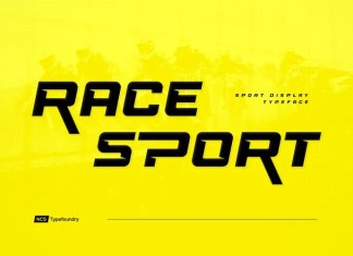 Race Sport Display Font