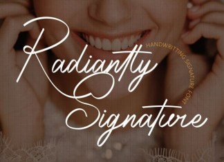 Radiantly Signature Script Font