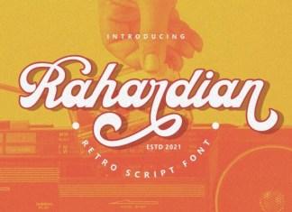 Rahardian Script Font